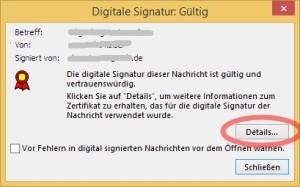 Fensterabbild nach dem 1. Klick (auf Signatursymbol)