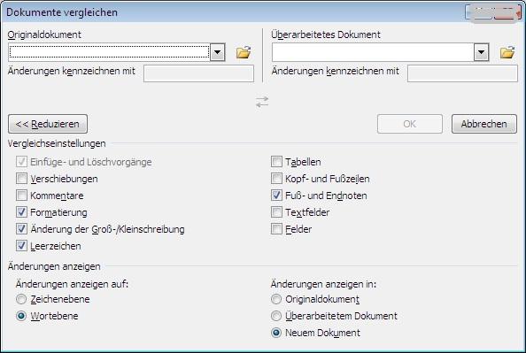 Abbildung Auswahlfenster, um Dokumente zu kombinieren